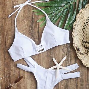 Other - BRAND NEW white caged midori bikini set