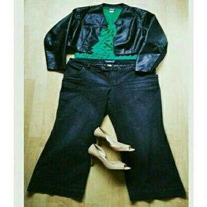 Venezia  Pants - New!🎉🎇Plus Venezia Wide Leg Denim Trousers