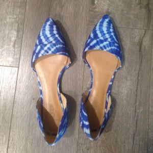 J. Crew Factory Shoes - J. crew pointed blue tie dye flats 9.5
