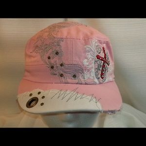 Accessories - Pink Cap with Cross and Fun Designs