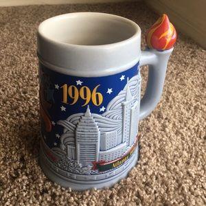 Vintage 1996 Atlanta Olympics Beer Mug.