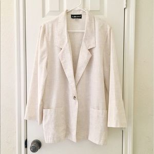 Sag Harbor Jackets & Blazers - Cream colored light blazer