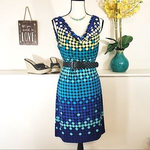 Muse Dresses & Skirts - Muse Polka Dot Sexy Dress Bright Summer Colors