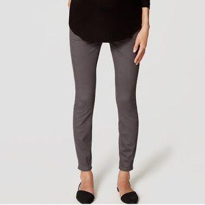 LOFT Pants - LOFT 5 pocket grey maternity leggings