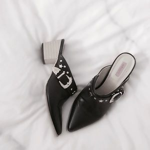 ASOS Shoes - Western Buckled Low Mules