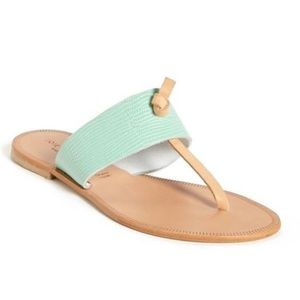 Joie Shoes - NEW Joie Nice Flat Teal Flat Knot Sandal with Box