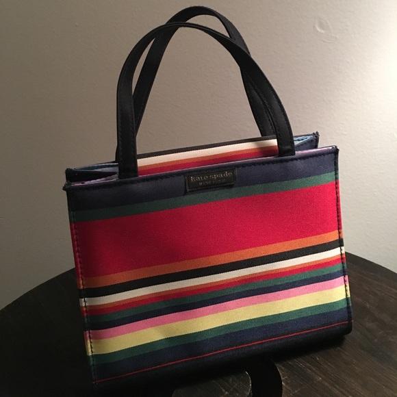 07d51679f0 kate spade Handbags - Multi-colored Striped Kate Spade mini purse