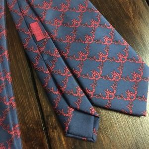 Hermes Other - Hermes Navy and Red Horse Shoe Necktie