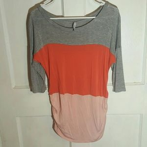 Planet Motherhood Tops - Striped 3/4 maternity shirt