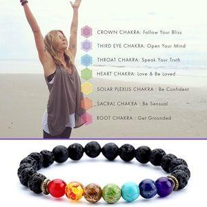 Reiki Jewelry - Reiki 7 Chakra Healing and Lava Energy Bracelet