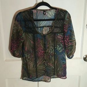 Love Squared Tops - Sheer blouse