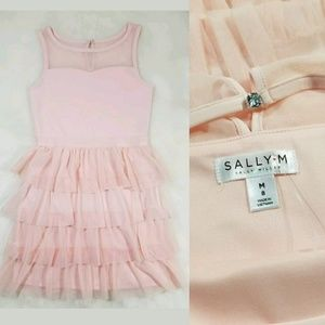 Sally Miller Other - Sally Miller Couture Pink Lace Dress Sz. 8