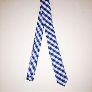 Skinny Tie Madness Other - Royal blue plaid tie
