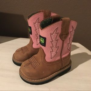 John Deere Other - John Deere pink toddler boots