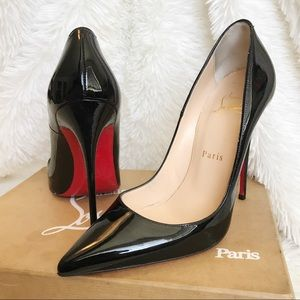 Christian Louboutin Shoes - CHRISTIAN LOUBOUTIN ❤️ SO KATE BLACK PATENT 36.5