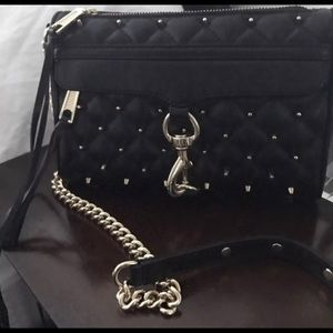 Rebecca Minkoff Handbags - Rebecca Minkoff Mini Mac Studded Black/Gold
