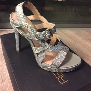 Rebecca Minkoff Bless Sandals - Grey Snake Print