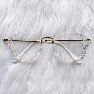 B-Long Boutique  Accessories - clear and gold fashion glasses