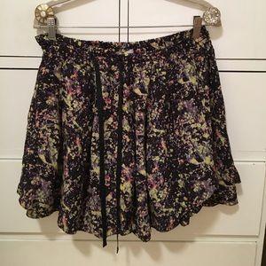 SUNO Dresses & Skirts - Suno silk mini skirt w/ side pockets & drawstring