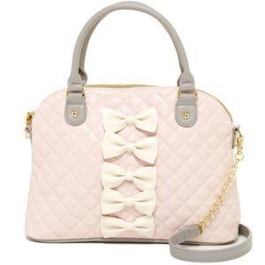 Betsey Johnson Handbags - New Betsey Johnson Petite-Chic Bows Dome Satchel!