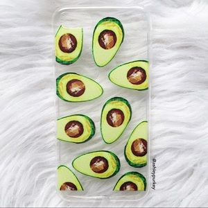 B-Long Boutique  Accessories - mini avocado clear iPhone 7 phone case