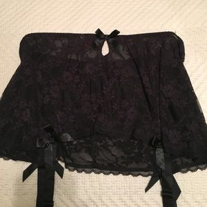 2d022ad97 Hips and Curves Intimates   Sleepwear - Hips and Curves Garter Belt Skirt  Black Lace 2x