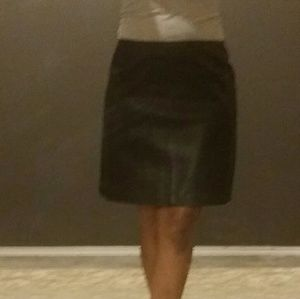 Tahari Dresses & Skirts - Tahari Black Leather mini skirt