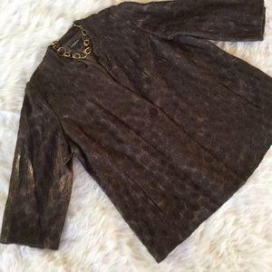 Eileen Fisher Jackets & Blazers - Eileen Fisher Brown Silk Jacket