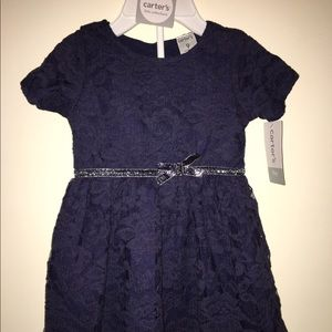 Carter's Other - NWT Adorable navy blue lace dress