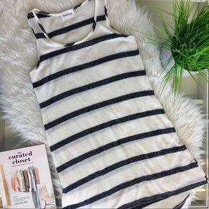 Navy Striped Knit Tank Dress