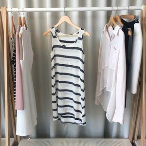RGL Collection Dresses - Navy Striped Knit Tank Dress