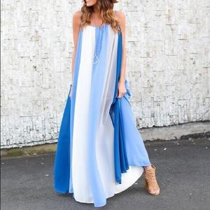Dresses & Skirts - blue/ white maxi