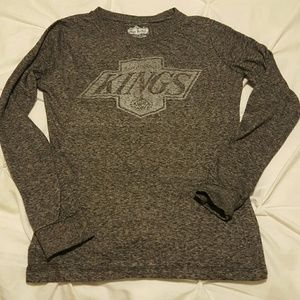 Red Jacket Tops - Los Angeles Kings Long Sleeve Fitted Shirt
