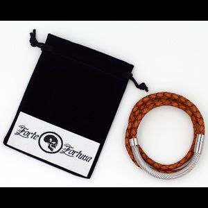 forte fortuna Other - triple wrap stainless steel cable cuff