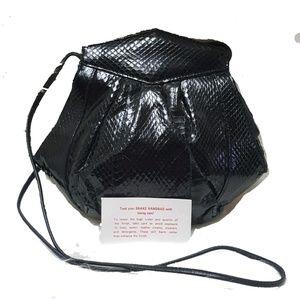 PMH FOR TIMOTHYS vintage snake hand bag NWOT