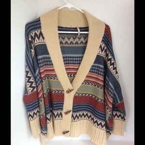 Elan Sweaters - Elan Tribal Cardigan Size XL