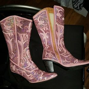 Shoes - Pink sequince boots