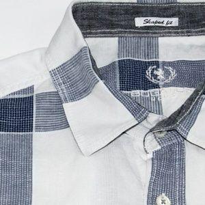 Bugatchi Other - BUGATCHI UOMO SHAPED FIT linen cotton shirt