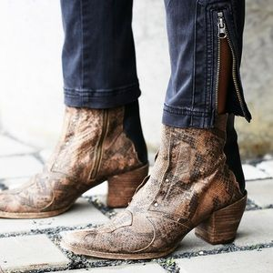 Free People Nevada Thunder Western Ankle Bootie