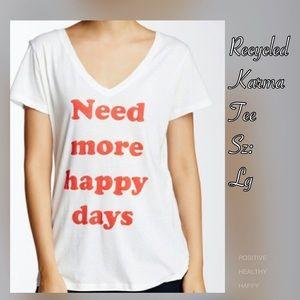 Recycled Karma Tops - NWOT Need Happy Graphic Tee 30% off Bundles