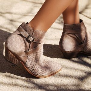 Free People Suede Venture Ankle Bootie