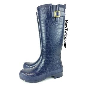 Joules Shoes - Joules crockington blue croc rain boots 6