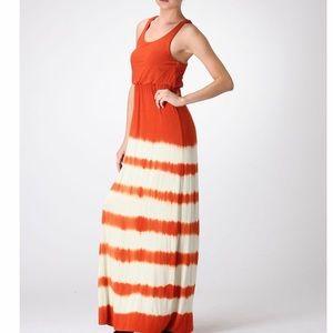 Tie Dye Maxi Dress - Rust Color
