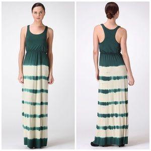 Tie Dye Maxi Dress - Huntergreen