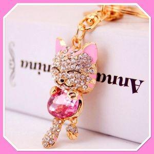 Jeweled Pink Kitty