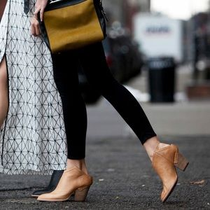 Free People Shoes - Tan Mule Leather Ankle Clog