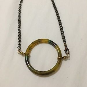 Ginger 13 Jewelry - Agate ring necklace