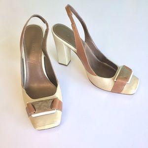 Tahari Shoes - Elie Tahari Leather Soles Slingback Heels