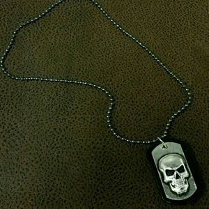 11thstreet Other - Skull Dogtag Necklace