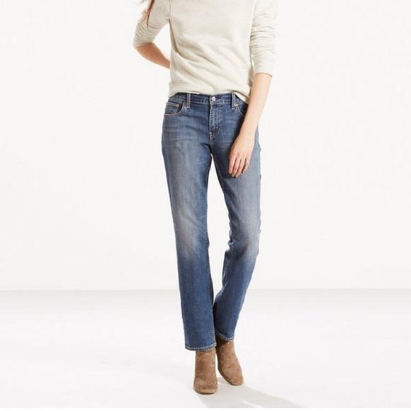 185891c4681 Levi s 414 Classic Straight Jeans w  DIY Step Hem
